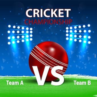 Concept de match de cricket avec fond