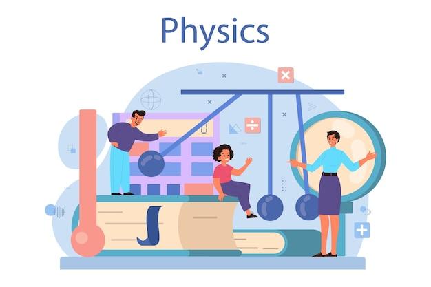 Concept de matière scolaire de physique