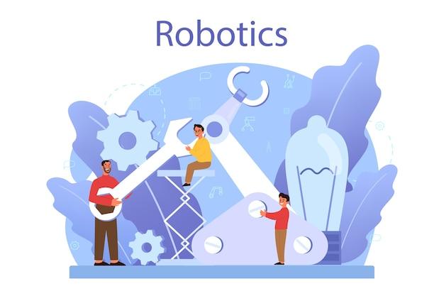 Concept de matière scolaire de robotique