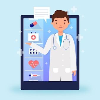Concept de médecin en ligne