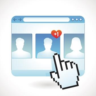 Concept de médias sociaux de vecteur
