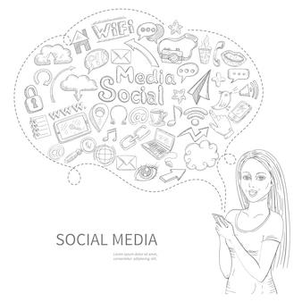 Concept de médias sociaux