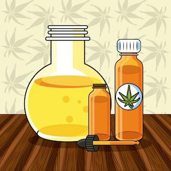 Concept médical de cannabis