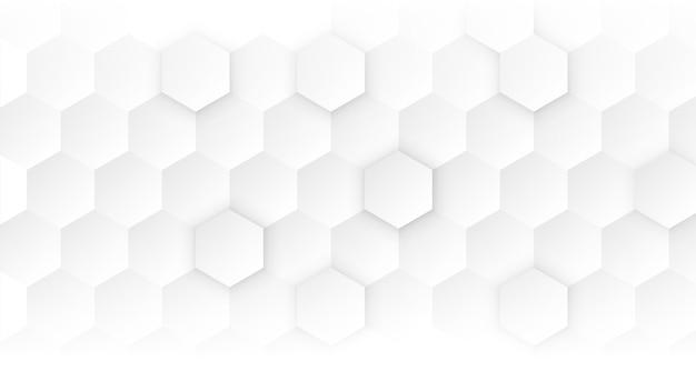 Concept médical hexagonal propre blanc