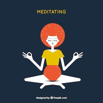 Concept de méditation avec un design plat