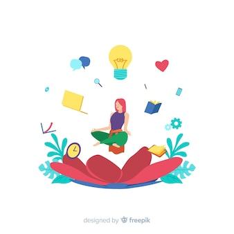 Concept de méditation pour la page de destination