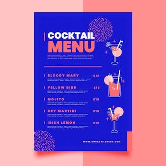 Concept de menu de cocktail