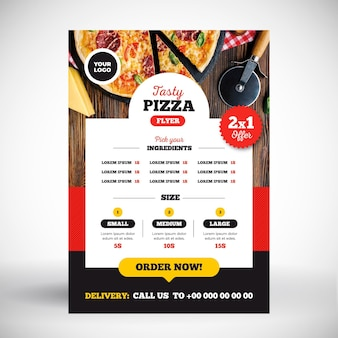 Concept de menu de pizza