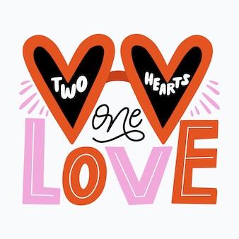 Concept de message de lettrage d'amour