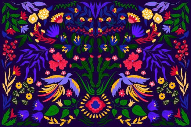 Concept mexicain coloré pour papier peint