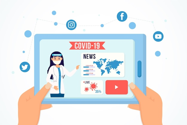 Concept de mise à jour du coronavirus