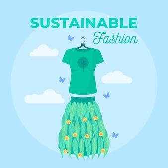 Concept de mode durable design plat