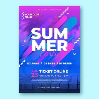 Concept de modèle d'affiche fête d'été