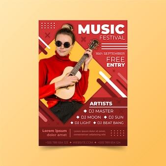 Concept de modèle d'affiche de musique