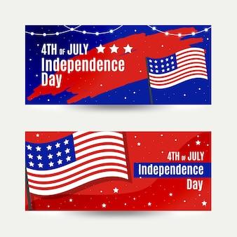 Concept de modèle de bannières de la fête de l'indépendance