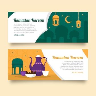 Concept de modèle de bannières ramadan
