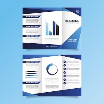 Concept de modèle de brochure à trois volets abstrait