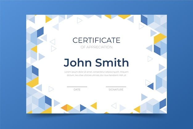 Concept de modèle de certificat abstrait