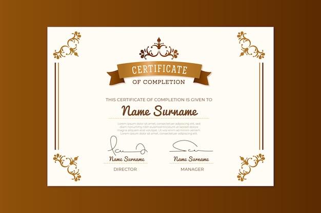 Concept de modèle de certificat élégant