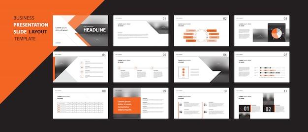 Concept de modèle de conception présentation entreprise avec éléments infographiques