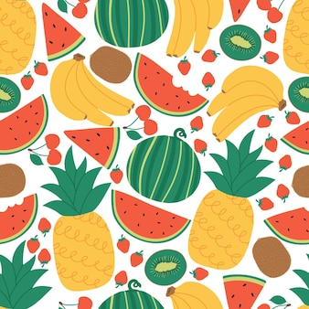 Concept de modèle de fruits d'été sans soudure