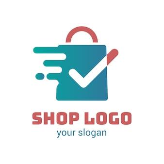 Concept de modèle de logo de supermarché
