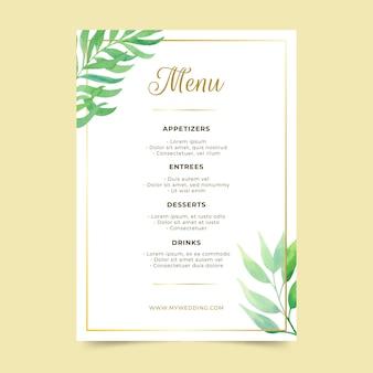 Concept de modèle de menu