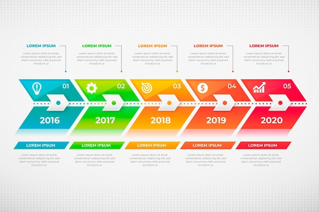 Concept de modèle de pack d'infographie