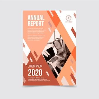 Concept de modèle de rapport annuel avec photo