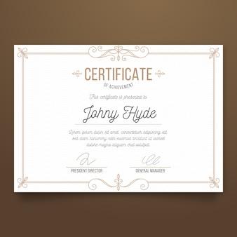 Concept de modèle de réussite de certificat élégant