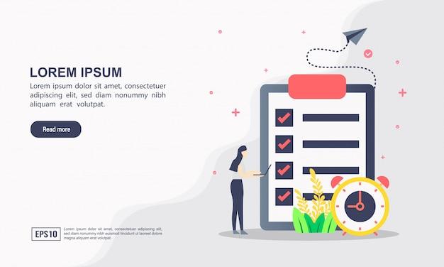 Concept de modèle web de page de destination de gestion