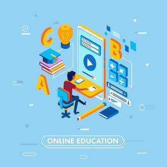 Concept moderne d'éducation en ligne