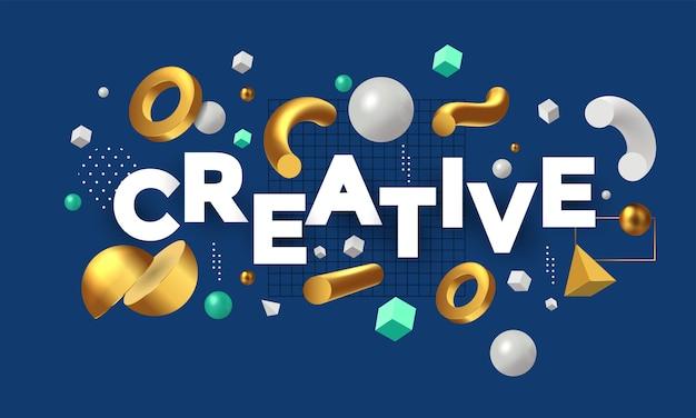 Concept moderne d'être créatif