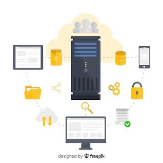 Concept moderne d'hébergement de données