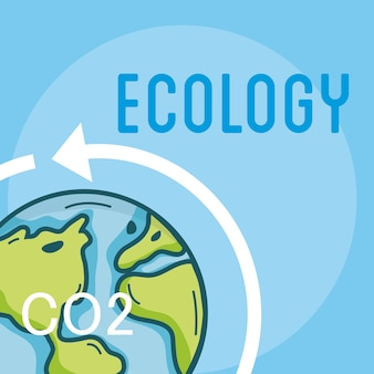 Concept de monde de problèmes d'écologie co2