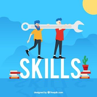 Concept de mot de compétences