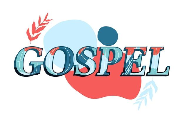 Concept de mot évangile