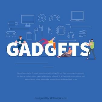 Concept de mot de gadgets