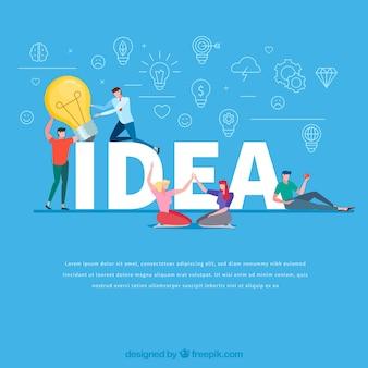 Concept de mot idée
