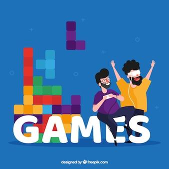 Concept de mot de jeux
