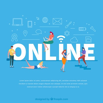 Concept de mot en ligne