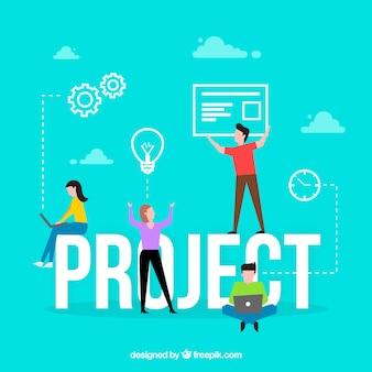 Concept de mot de projet
