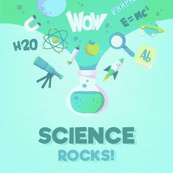 Concept de mot science