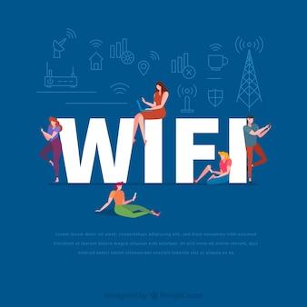 Concept de mot wifi