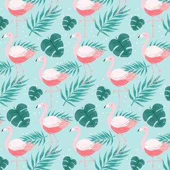Concept de motif flamingo