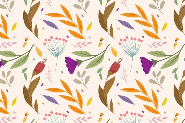 Concept de motif floral coloré
