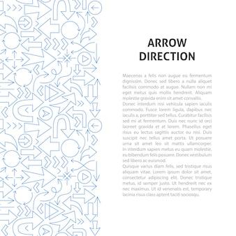 Concept de motif de ligne de direction de flèche. illustration vectorielle de la conception de contour.