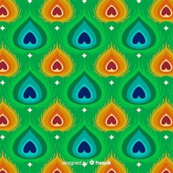 Concept de motif de plumes de paon décoratif