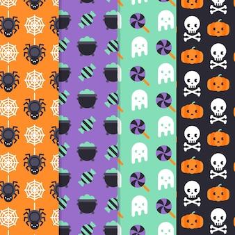 Concept de motifs d'halloween plat