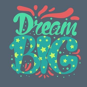 Concept de motivation et de lettrage de rêve